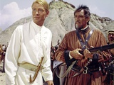 LAWRENCE OF ARABIA, 1962 directed by DAVID LEAN Peter O'Toole / Anthony Quinn (photo) Photo