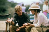 Robert Redford and Meryl Streep sur le tournage du film Out of Africa by Sydney Pollack, 1985 (phot Photo