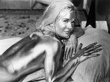 GOLDFINGER, 1964 directed by GUY HAMILTON Shirley Eaton (b/w photo) Foto