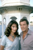 Octopussy by John Glen with Maud Adams, Roger Moore (James Bond 007), 1983 (photo) Photo