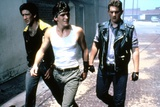RUMBLE FISH, 1983 directed by FRANCIS FORD COPPOLA Nicolas Cage, Matt Dillon and Chris Penn (photo) Foto