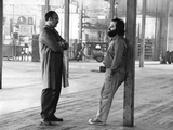 Actor Gene Hackman and film director Francis Ford Coppola on the set of the film The Conversation,  Photo