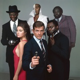 LIVE AND LET DIE, 1973 directed by GUY HAMILTON Jane Seymour, Roger Moore,Yaphet Kotto, Julius W.Ha Photo