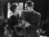 MATA HARI, 1932 directed by GEORGE FITZMAURICE Greta Garbo / Lionel Barrymore (b/w photo) Foto