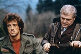 FIRST BLOOD, 1982 directed by TED KOTCHEFF Sylvester Stallone and Brian Dennehy (photo) Photo