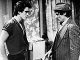 RUMBLE FISH, 1983 directed by FRANCIS FORD COPPOLA Matt Dillon and Dennis Hopper (b/w photo) Foto