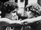 RUMBLE FISH, 1983 directed by FRANCIS FORD COPPOLA Matt Dillon and Diane Lane (b/w photo) Foto