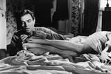 LOLITA, 1962 directed by STANLEY KUBRICK James Mason / Sue Lyon (b/w photo) Valokuva
