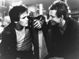 RUMBLE FISH, 1983 directed by FRANCIS FORD COPPOLA Matt Dillon and Mickey Rourke (b/w photo) Foto