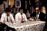 THE BLUES BROTHERS, 1980 directed by JOHN LANDIS Dan Aykroyd, John Belushi and Cab Calloway (photo) Foto