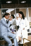 THE MAN WITH THE GOLDEN GUN, 1974 directed by GUY HAMILTON Roger Moore / Maud Adams (photo) Photo