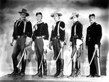 SHE WORE A YELLOW RIBBON, 1949 directed by JOHN FORD John Wayne, Harry Carey Jr., Ben Johnson, John Foto