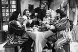 LES TROIS MOUSQUETAIRES, 1953 directed by ANDRE HUNEBELLE jean Martinelli, Georges Marchal, Bourvil Photo
