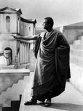 Jules Cesar Julius Caesar by Joseph Mankiewicz with Marlon Brando (Marc-Antoine), 1953 (b/w photo) Foto