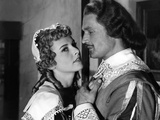 LES TROIS MOUSQUETAIRES, 1953 directed by ANDRE HUNEBELLE Danielle Godet and Georges Marchal (b/w p Photo