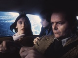 Shining by Stanley Kubrik with Shelley Duvall, Danny Llyod and Jack Nicholson, 1980 (d' apres Steph Photo