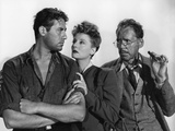 Lifeboat by Alfred Hitchcock with John Hodiak, Tallulah Bankhead and Henry Hull., 1944 (b/w photo) Foto
