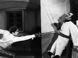 THE MARK OF ZORRO, 1940 directed by ROUBEN MAMOULIAN Tyrone Power and Basil Rathbone (b/w photo) Photo