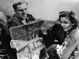 Lifeboat by Alfred Hitchcock with William Bendix and Mary Anderson, 1944 (b/w photo) Foto