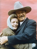 Le Dernier des Geants THE SHOOTIST by DonSiegel with John Wayne and Lauren Bacall, 1976 (photo) Foto