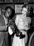 Haute societe, HIGH SOCIETY by CharlesWalters with Louis Armstrong and Grace Kelly, 1969 (b/w photo Foto