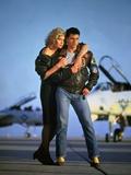 Top Gun by Tony Scott with Kelly McGillis and Tom Cruise, 1986 (photo) Photo