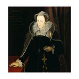 Portrait of Mary Stuart, Queen of Scots, 1578 Giclée-tryk af Nicholas Hilliard