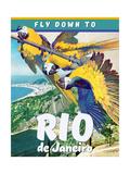 Travel Poster - Rio Giclée-Druck von  The Saturday Evening Post