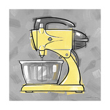 2-Mixer Yellow Giclee Print by Larry Hunter