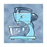 Blue On Blue Mixer Giclee Print by Larry Hunter