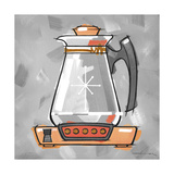 1-Coffee Pot Coral Giclee Print by Larry Hunter