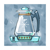 Blue On Blue Coffee Pot Giclee Print by Larry Hunter
