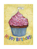 Happy Birthday To You Cupcake Giclee Print by Melinda Hipsher