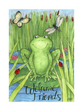 Frogs and Friends Welcome Giclee Print by Melinda Hipsher