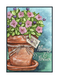 Flower Pink Bless This Home Giclee Print by Melinda Hipsher