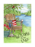 Welcome to the Lake Chair Giclee Print by Melinda Hipsher