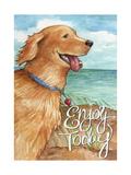 Golden Enjoy Today 2 Giclee Print by Melinda Hipsher