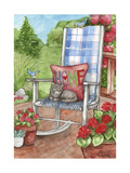 Porch Chair with Cat Home Giclee Print by Melinda Hipsher