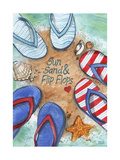 Suns And Flip Flops Giclee Print by Melinda Hipsher