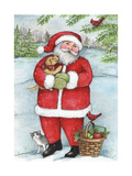 Santa With Friends Giclee Print by Melinda Hipsher