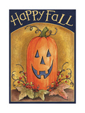 Pumpkin Face Happy Fall 2 Giclee Print by Melinda Hipsher