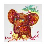 Red Elephant Giclée-vedos tekijänä Oxana Zaika