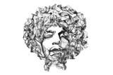 Jimi Hendrix Giclée-tryk af  O.M.