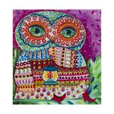 Folk Owl 1 Giclée-vedos tekijänä Oxana Zaika