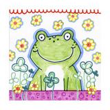 Frog In Clover Reproduction procédé giclée par Valarie Wade