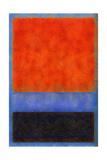 Rothko Style Red Black And Blue Giclee-trykk av Tom Quartermaine