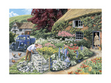 Drystone Walling Giclee Print by Trevor Mitchell