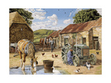 Back From The Fields Giclee Print by Trevor Mitchell