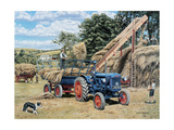 Building A Hayrick Giclee Print by Trevor Mitchell