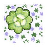 Four Leaf Clover Reproduction procédé giclée par Valarie Wade
